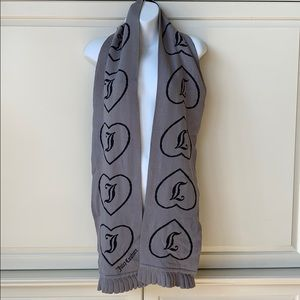 Juicy Couture Accessories - Juicy Couture Gray and Black Scarf